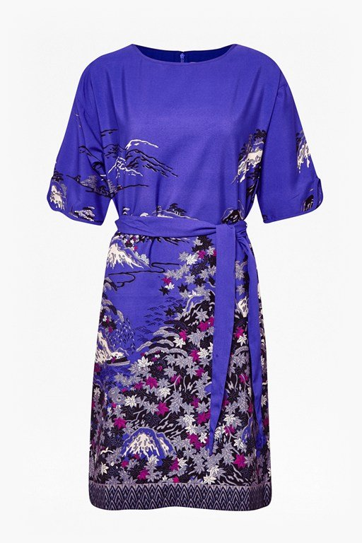 Complete the Look Geisha Print Shift Dress