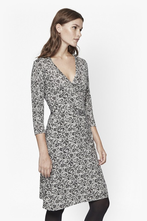 baroque rock wrap dress