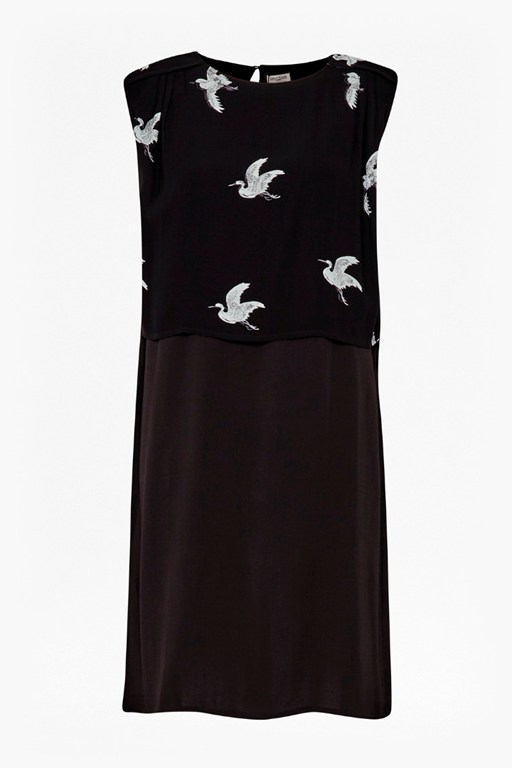 skylark contrast double layered dress