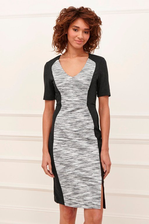 flicker jersey pencil dress