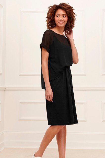 Featherweight Jersey Mix Dress