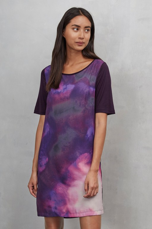 summer nebula jersey mix dress