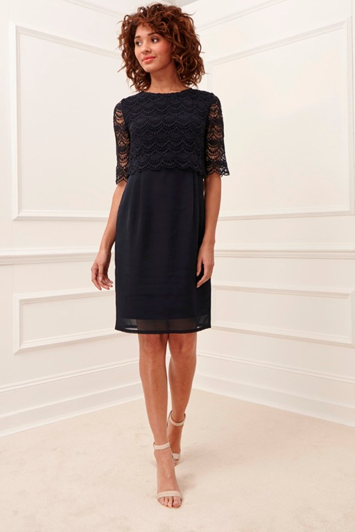 sicily lace wing back dress
