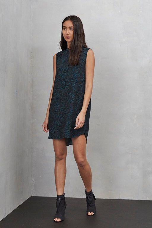 helsinki sleeveless tunic dress