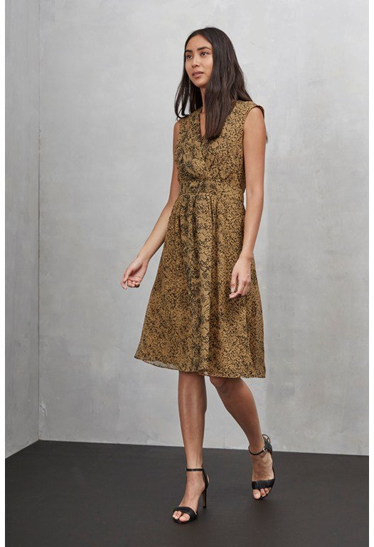 Python Chiffon Cross Over Dress