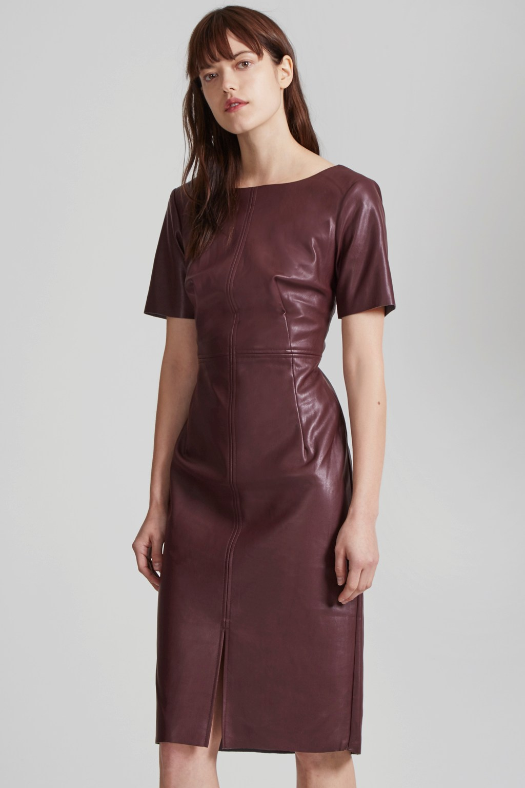 Chicago Top Stitch Faux Leather Dress | Women