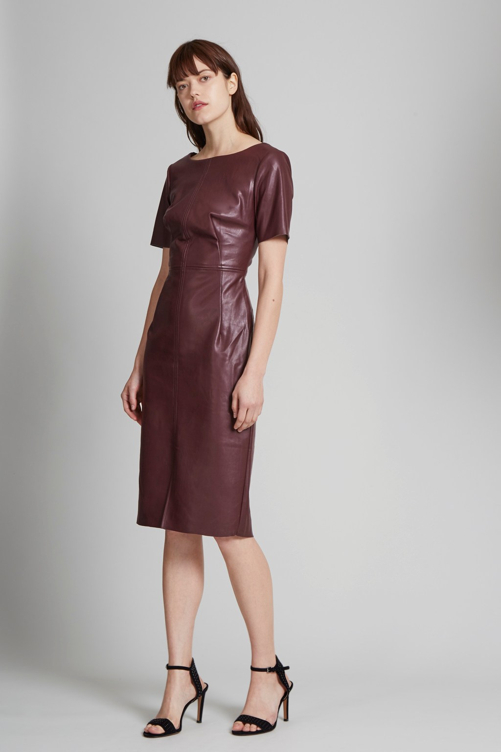 Chicago Top Stitch Faux Leather Dress | Women | Great Plains
