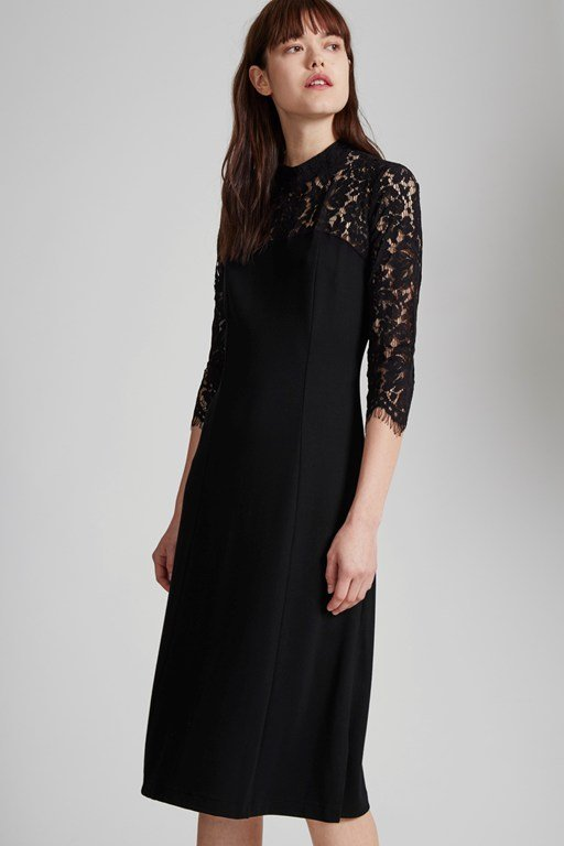 georgia lace open back dress