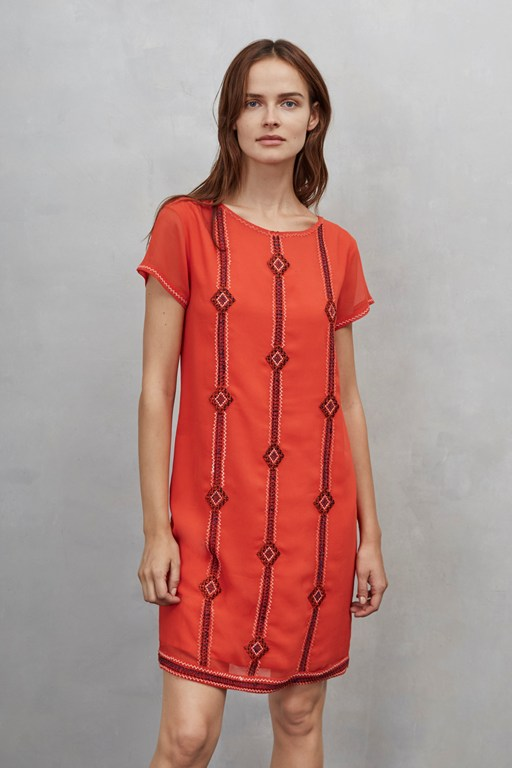 karla stitch embroidered dress