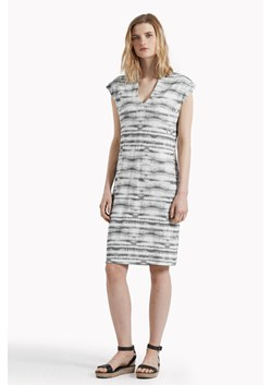 Sonar Stripe Low V Neck Dress