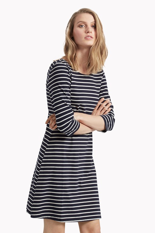 sunday stripe jersey flared dress