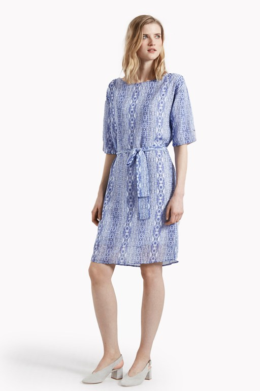 santiago belted shift dress