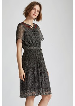 Scatter Floral Neck Tie Dress
