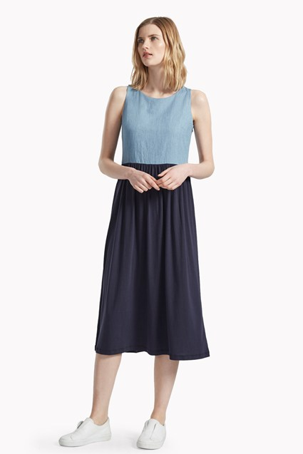 Chambray Play Contrast Dress