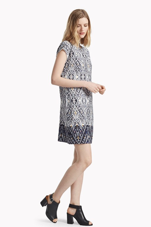 diamond daze printed shift dress