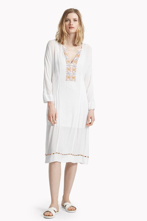 morocco stitch embellished dress