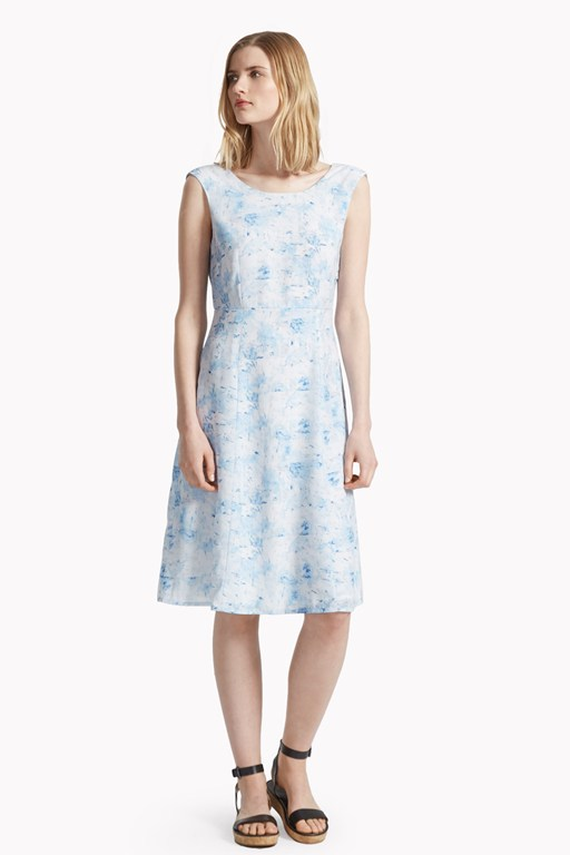 watercolour haze open back dress