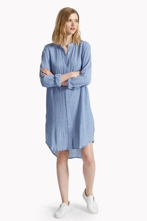 falmouth crinkle shirt dress