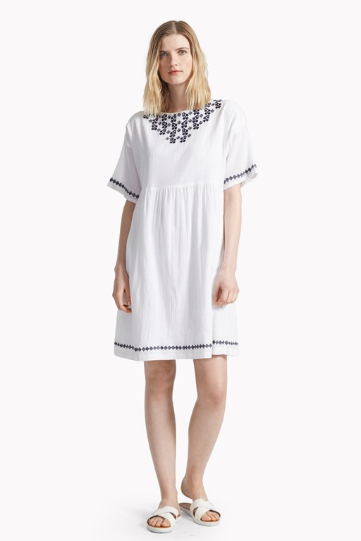 seacrest stitch embroidered smock dress
