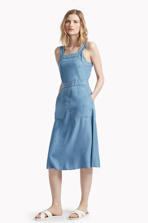 washed wendy pinafore dress