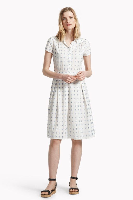 woodstock weave shirt dress