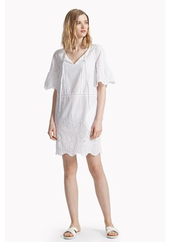 Chantilly Mix Scallop Hem Dress