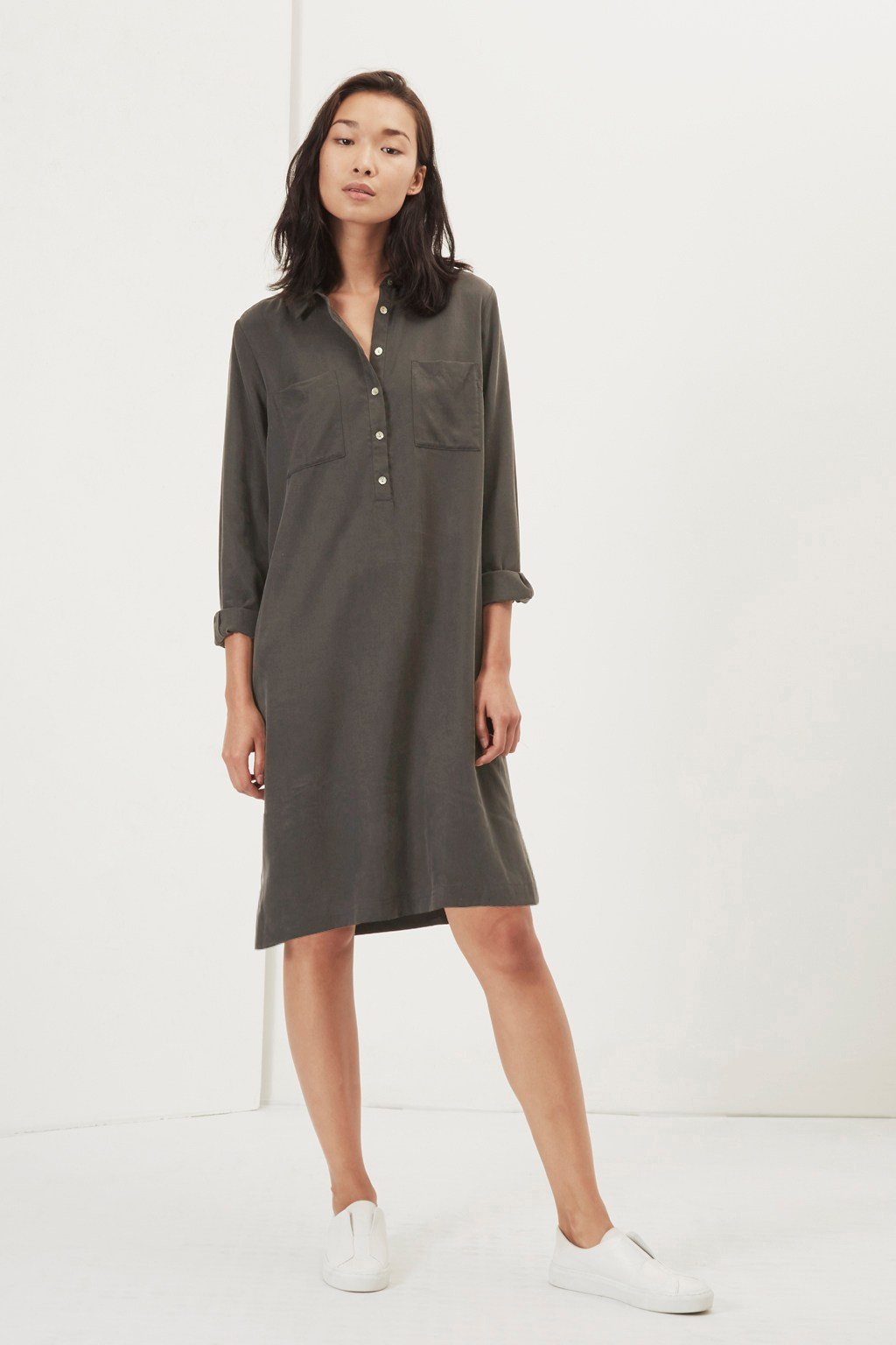 bryony tencel tunic shirt dress new in great plains