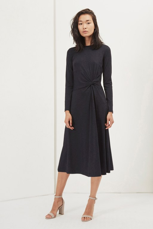 sorrel side knot dress