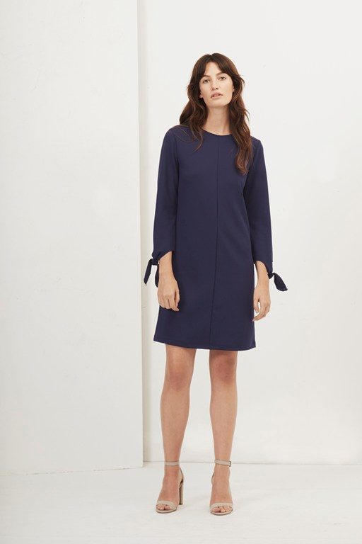 Complete the Look Tania Tie Jersey Shift Dress