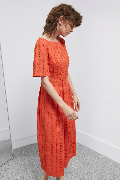 betsy broidery midi dress