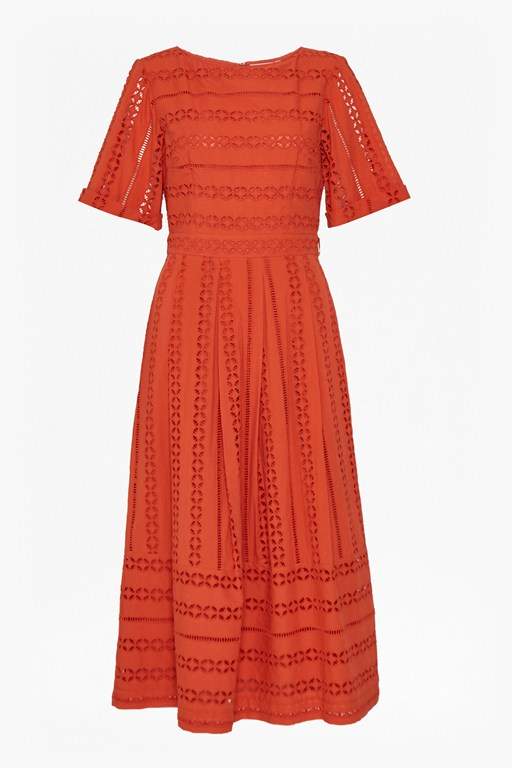 Complete the Look Betsy Broidery Midi Dress