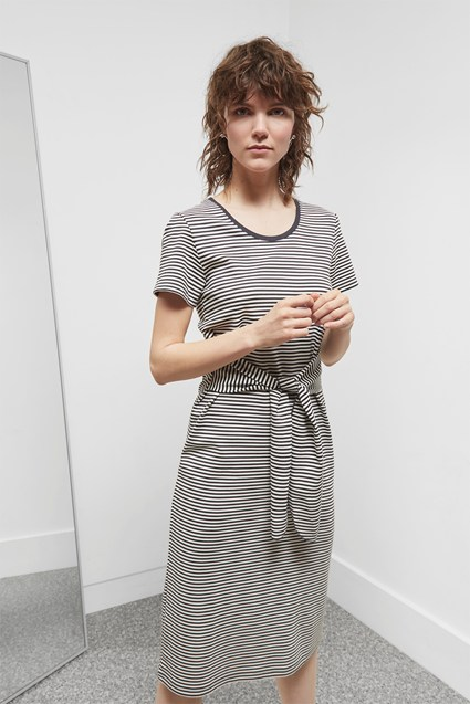 Tessa Tie Front Midi Dress
