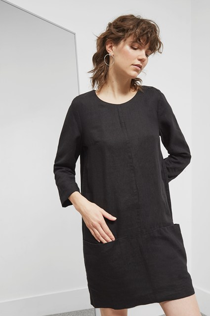 Alana Linen Shift Dress