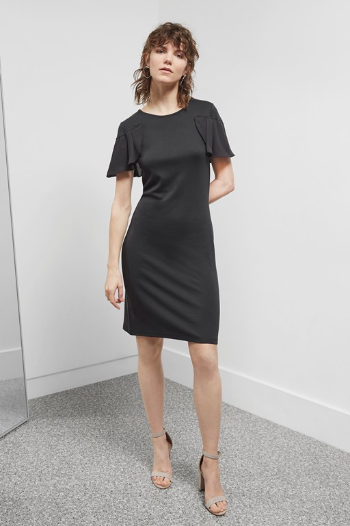 joelle jersey frill detail dress
