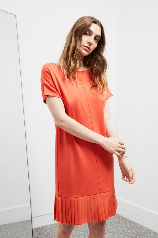 joelle jersey pleated hem dress