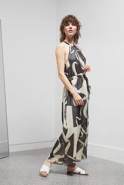 Ink Wash Maxi Dress