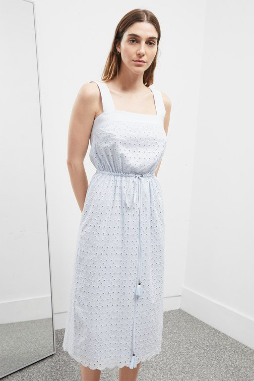summer broderie anglaise dress