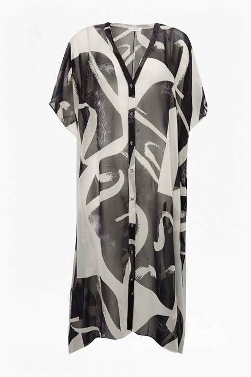 Complete the Look Ink Wash Kimono Dress