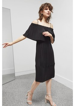 Concertina Layered Midi Dress