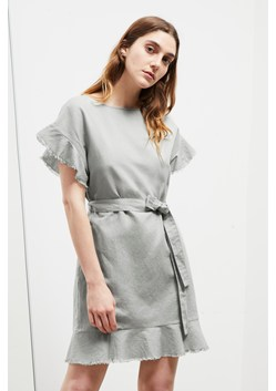 Cotton Linen Frill Dress