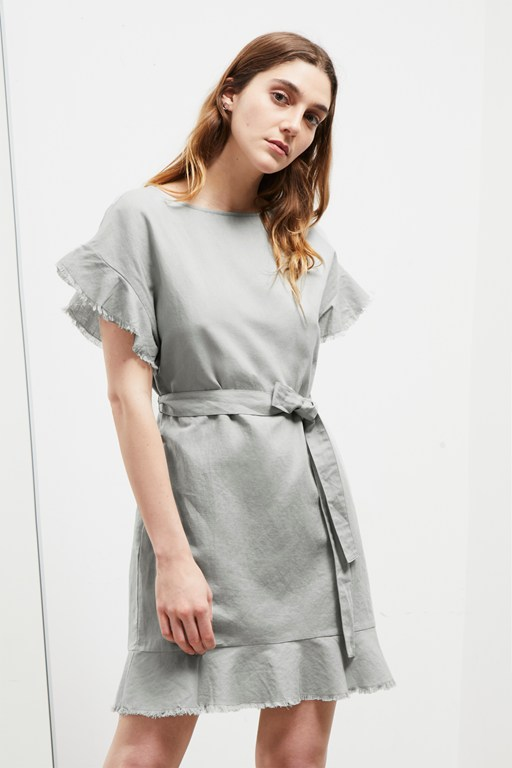 Complete the Look Cotton Linen Frill Dress