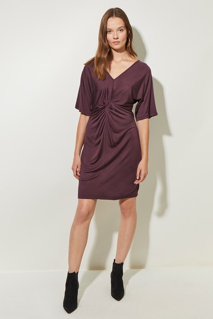 Silky Jersey V Neck Dress
