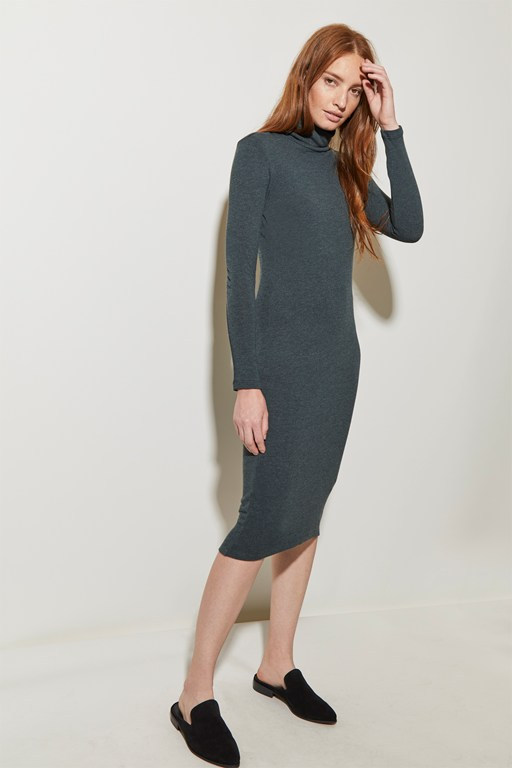 winter soft jersey high neck dress