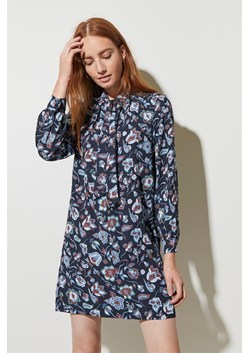 Moray Floral Tie Neck Dress