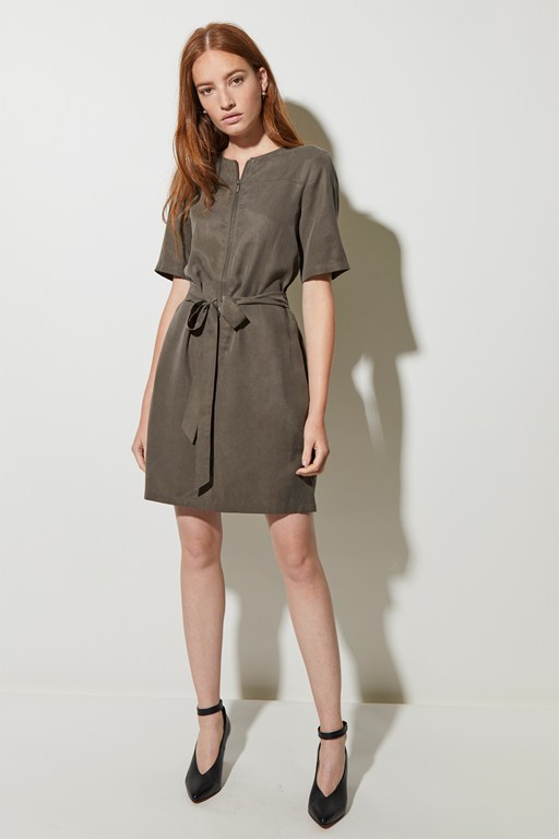 everyday belted mini dress