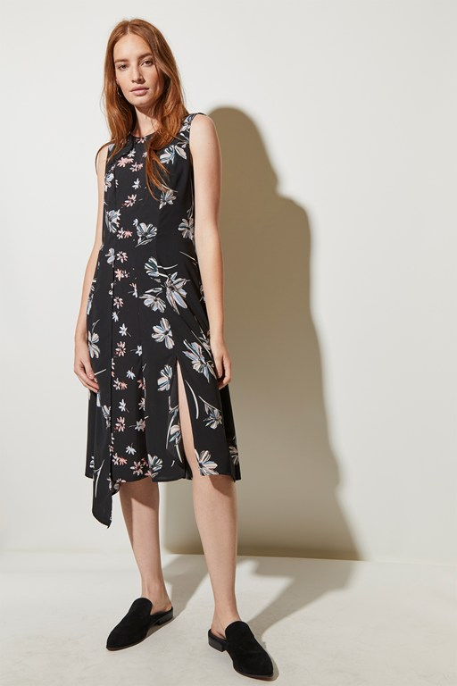 camilla bloom panelled dress
