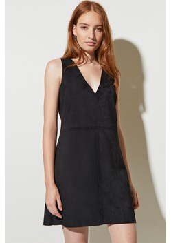 Suedette Lace Up Dress