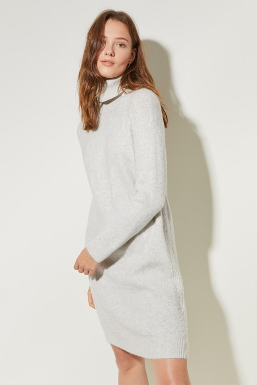 milly knit high neck dress