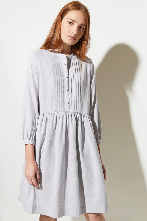 cotton melange dress