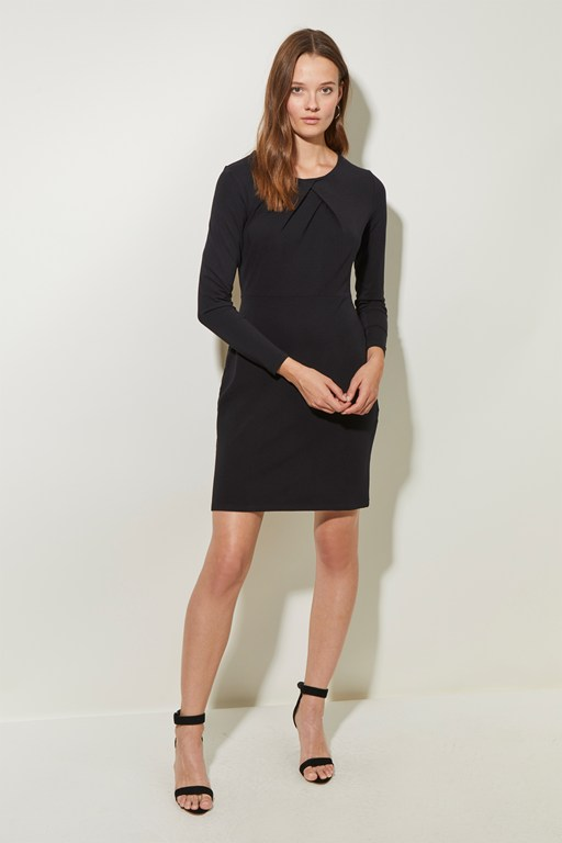 classic jersey round neck dress
